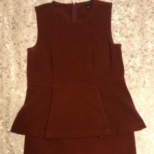 Ann Taylor shirt and skirt set.
